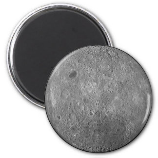 The Surface on the Far Side of Earth's Moon 6 Cm Round Magnet