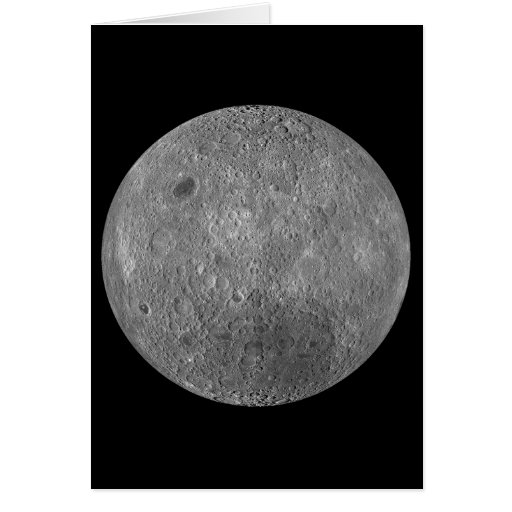 The Surface on the Far Side of Earth's Moon Greeting Card