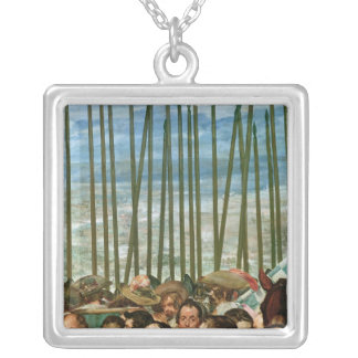 The Surrender of Breda,detail of soldiers Silver Plated Necklace