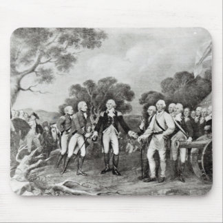 The Surrender of General Burgoyne Saratoga Mouse Mat
