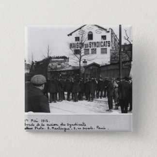 The surroundings of the Maison des Syndicats, 15 Cm Square Badge