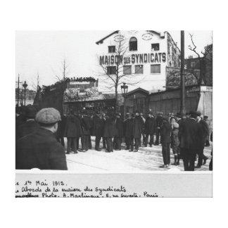 The surroundings of the Maison des Syndicats, Canvas Print