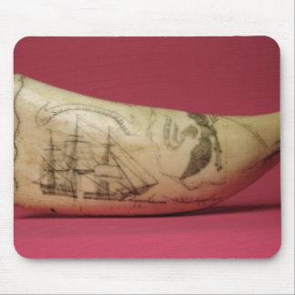 The Susan on the coast of Japan' Scrimshaw Mouse Pad