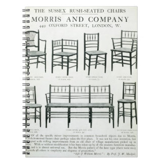 The Sussex Rush-Seated Chairs, made by Morris and Spiral Note Books