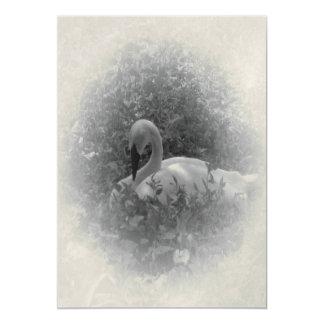 The Swan 13 Cm X 18 Cm Invitation Card