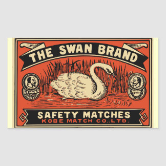 The Swan Brand Safety Matches Rectangular Sticker
