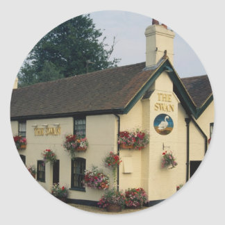 The Swan Inn, Swan Green, Lyndhurst, Hampshire, U. Classic Round Sticker