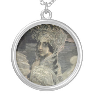 The Swan Princess, 1900 Silver Plated Necklace