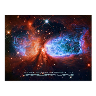 The Swan, Star Birth in Constellation Cygnus Postcard