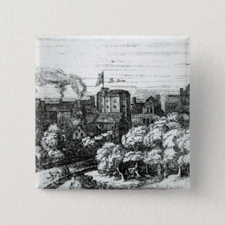 The Swan Theatre on the Bankside 15 Cm Square Badge
