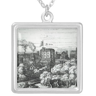 The Swan Theatre on the Bankside Silver Plated Necklace