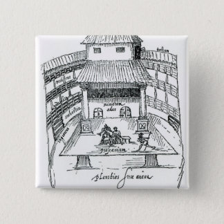 The Swan Theatre, Southwark 15 Cm Square Badge