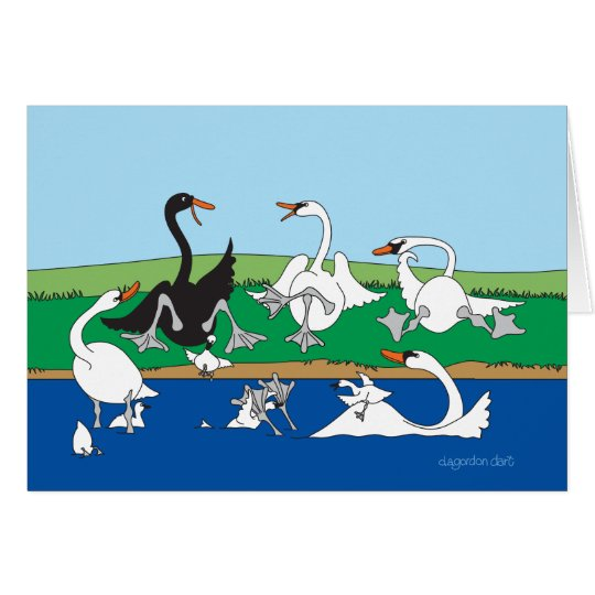 The Swanna Talk Swans Card