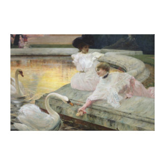 The Swans, 1900 Canvas Print