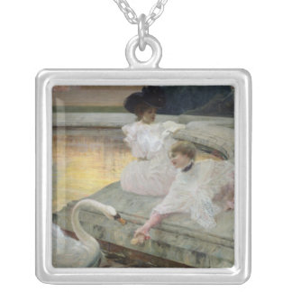The Swans, 1900 Silver Plated Necklace