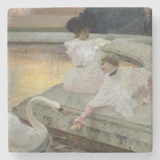 The Swans, 1900 Stone Coaster