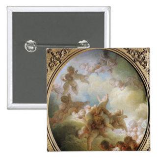 The Swarm of Cupids, c.1767 15 Cm Square Badge