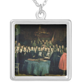 The Swearing of the Oath of Ratification Silver Plated Necklace