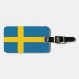 The Swedish flag Bag Tag