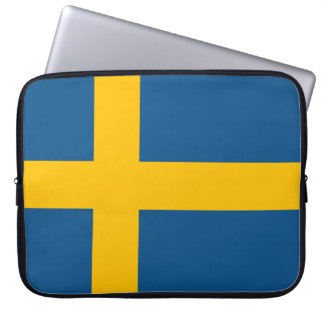 The Swedish flag Laptop Sleeve