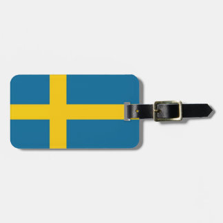 The Swedish flag Luggage Tag