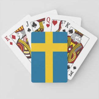 The Swedish flag Playing Cards