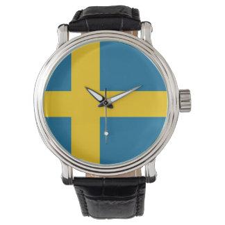 The Swedish flag Wristwatches