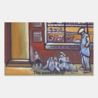 (The sweet shop Sticker) Rectangular Sticker