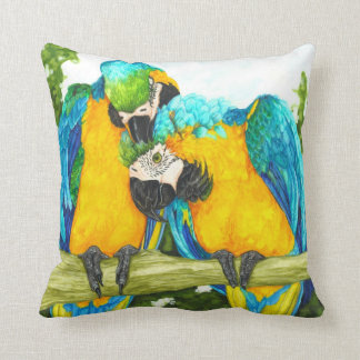 The Sweet Sot - Blue and Gold Macaws Throw Cushions