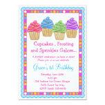 The Sweetest Cupcakes  Birthday Invitation