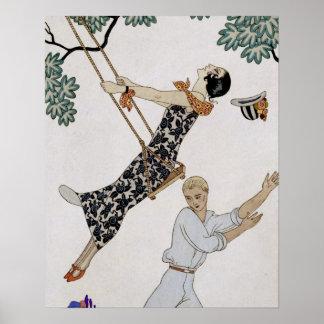 The Swing, 1920s Print