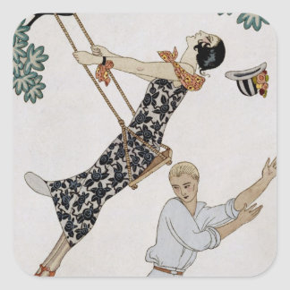 The Swing, 1920s Square Sticker
