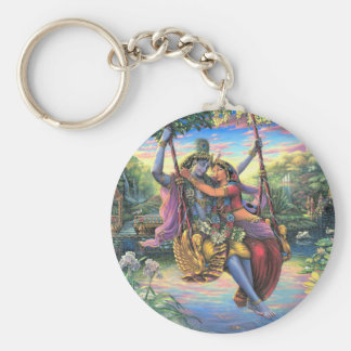 The Swing Pastime - Radha and Krishna Key Ring