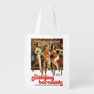 The Swinging Barmaids Reusable Grocery Bag