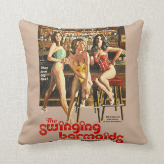 The Swinging Barmaids Throw Pillow