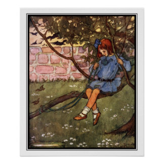 The Swinging Bough by Florence Harrison Poster