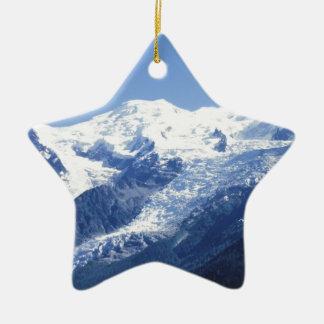 The Swiss Alps Ceramic Star Decoration
