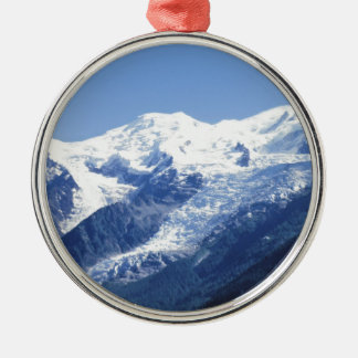 The Swiss Alps Silver-Colored Round Decoration