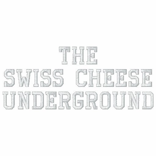 The Swiss Cheese Underground Embroidered Track Jacket