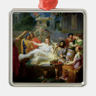 The Sword of Damocles Silver-Colored Square Decoration