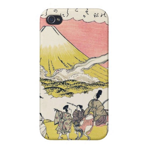 The Syllable He  Passing Mount Fuji japanese art iPhone 4/4S Covers