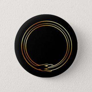 The symbol of Ouroboros snake 6 Cm Round Badge