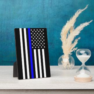 The Symbolic Thin Blue Line American Flag Photo Plaque