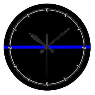 The Symbolic Thin Blue Line Decor Wallclock