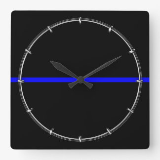 The Symbolic Thin Blue Line Graphic Clock