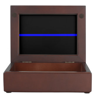 The Symbolic Thin Blue Line Graphic Keepsake Box
