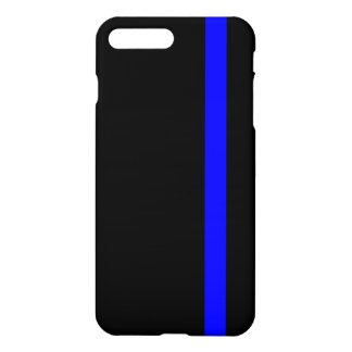 The Symbolic Thin Blue Line on Black iPhone 7 Plus Case