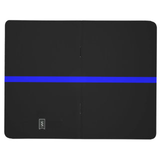 The Symbolic Thin Blue Line on Solid Black Journal