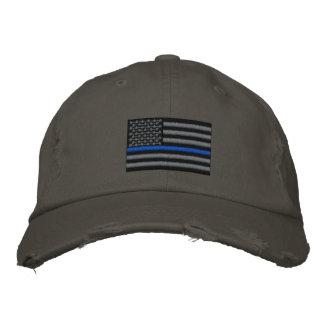 The Symbolic Thin Blue Line on US Flag Baseball Cap