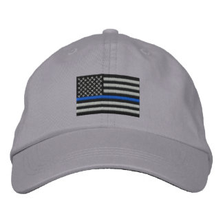 The Symbolic Thin Blue Line on US Flag Embroidered Hats